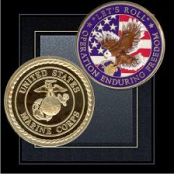 Marine probed over Bible coins